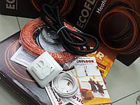 Теплые полы .тонкий греющий  кабель ( в комплекте с крепежом и Регулятором )  11 м.кв