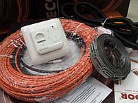 Тонкий греющий  кабель ( в комплекте с крепежом и Регулятором )  13.3  м.кв