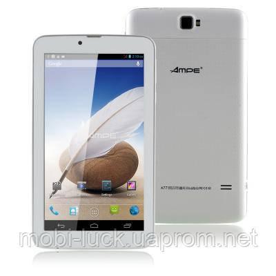 Стильный оригинальный планшет AMPE A77   7 дюймов,2 ядра,4 Гб,3700 мА/ч.