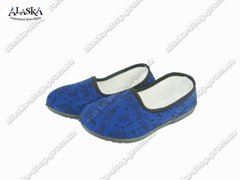 Женские тапки синие (Код: Т-103)