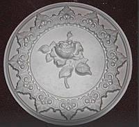 """Гипсовый декор, орнамент """"Роза"""", грунтованная, диаметр 18 см."""