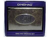 PR7-62 Портсигар с зажимом (старая бронза), Портсигар металлический, Мужской портсигар, Футляр для сигарет