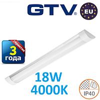 Светодиодный LED светильник GTV, 18W, 4000К, 600мм, IP40, накладной, OLIMPIA. ПОЛЬША!!! Гарантия - 3 года