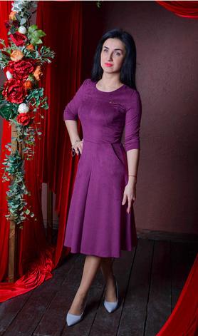 """Платье  """"Дженифер"""" из замшевой ткани, фото 2"""