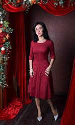 """Платье  """"Дженифер"""" из замшевой ткани"""