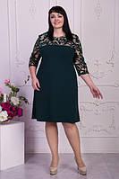 Стильное женское платье в батальных размерах