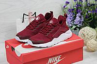 Женские кроссовки Nike Huarache (бордовые), ТОП-реплика, фото 1