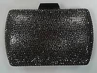 Женский клатч в камнях серый с оттенком коричневого.(Турция), фото 1