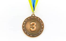 Медаль спорт d-6,5см C-4841-3 бронза ABILITY (38g, на ленте)