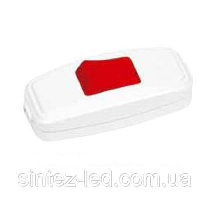 Выключатель для бра красно-белый (Horoz) Код.55220