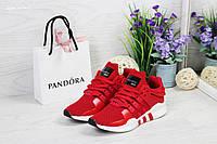 Кроссовки женские Adidas Equipment adv 91-17, красно-белые, материал - сетка