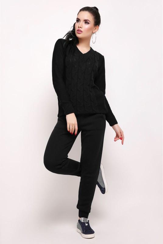 Вязаный костюм LIZA черный(42-46)