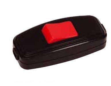 Выключатель для бра красно-черный (Horoz) Код.55219, фото 2