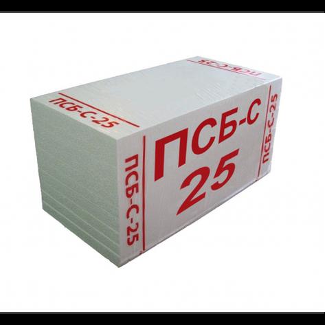 Пенопласт ПСБ-С-25, (1000*500*40 мм), Альфа-Житомир,  7 кг/м3, фото 2