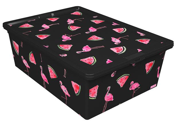 Ящик для хранения Trend Box Flamingo Melon Black, 25л, фото 2