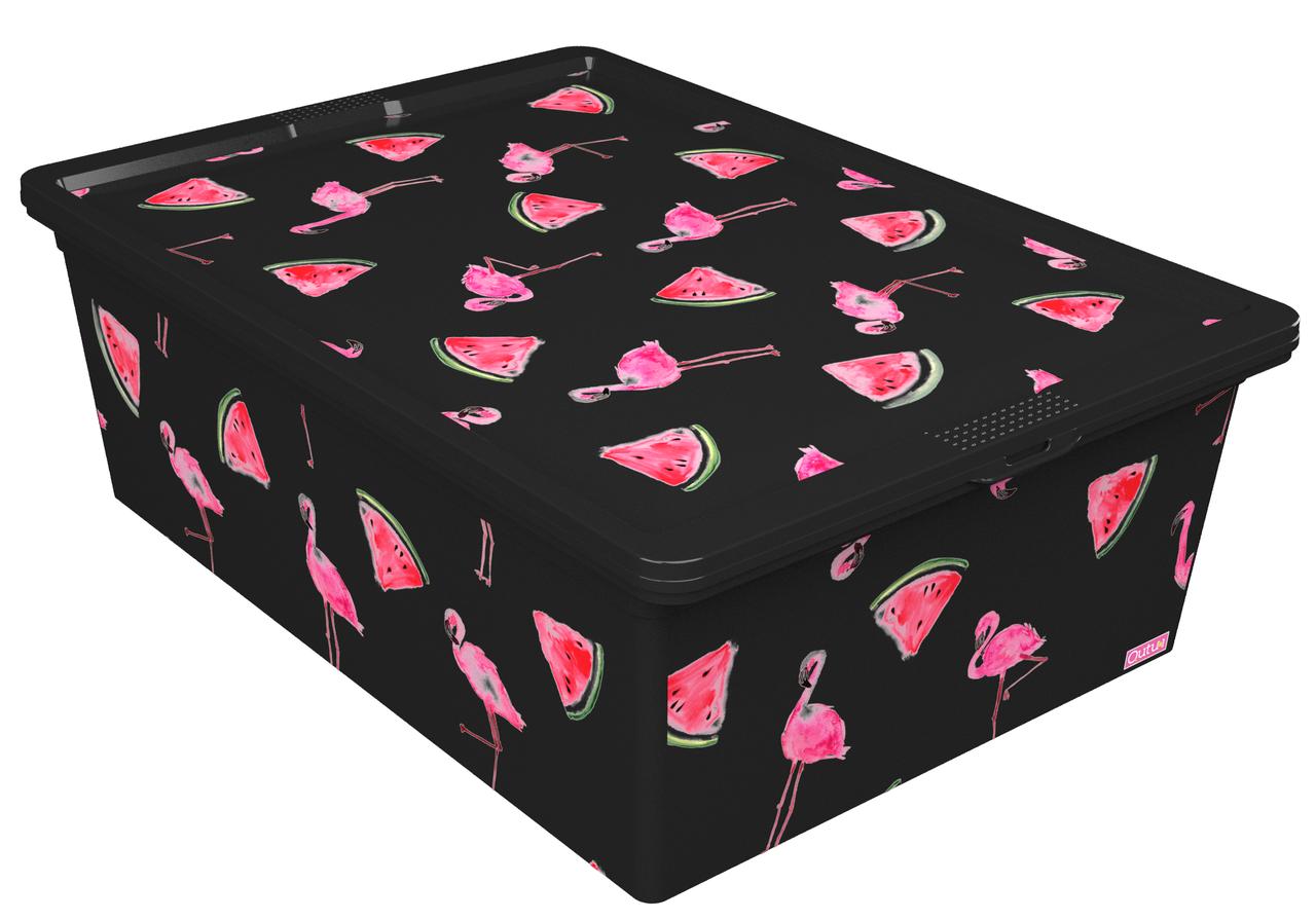 Ящик для хранения Trend Box Flamingo Melon Black, 25л