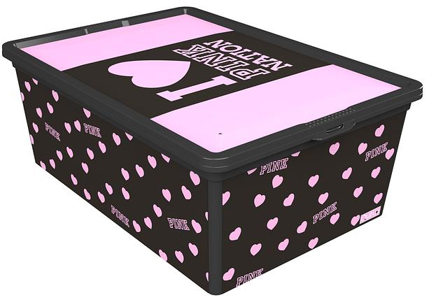 Ящик для хранения Trend Box Pink Nation Black, 10л, фото 2