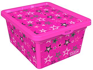 Ящик для хранения Trend Box Star Pink, 2,5л