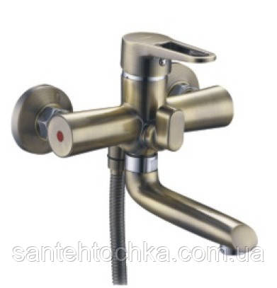 Смеситель для ванны Zegor PUD3-KT c коротким изливом