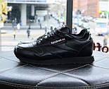 Мужские кроссовки Reebok Classic Black. Топ качество. Живое фото! (Реплика ААА+), фото 6