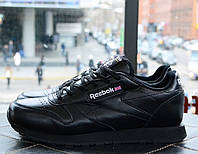 Кроссовки Reebok Classic Black. Топ качество. Живое фото! (рибок, рибок классик)