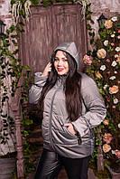Женская куртка со съемным капюшоном, с 48 по 82 размер, фото 1