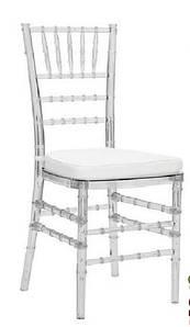 Стілець акриловий прозорий, стілець бенкетний (Чиавари прозорий)