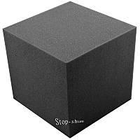 Звукопоглощающий угловой соединитель «Куб» 30*30*30 см. Чёрный графит
