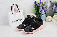 Кроссовки женские Adidas Equipment adv 91-17, серо-розовые, материал - сетка
