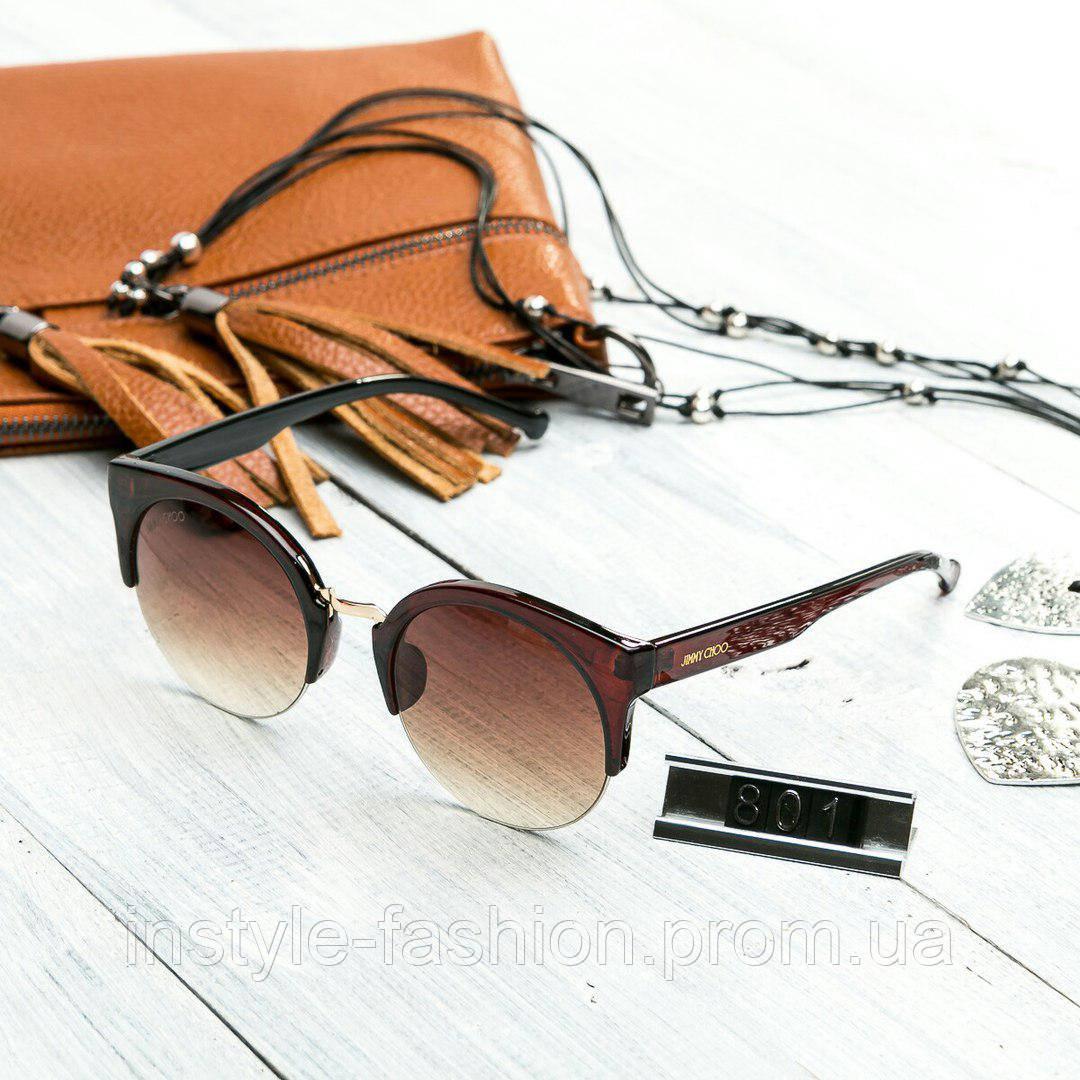 27f4996ace51 Женские брендовые очки Jimmy Choo круглые коричневые - Сумки брендовые,  кошельки, очки, женская