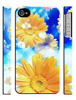 Чехол для iPhone 5/5s Цветы, Ромашки небесные