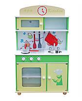 Дерев'яна кухня для дітей Wooden Toys Frogi + набір посуди, фото 2
