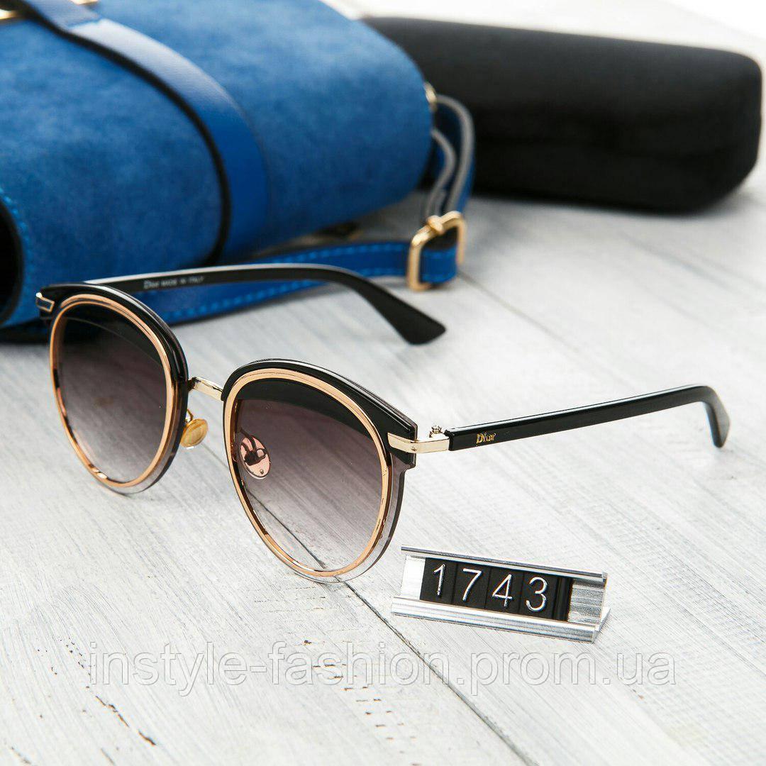 f6b0d0adaf2a Женские брендовые очки копия Диор круглые черные  купить недорого ...