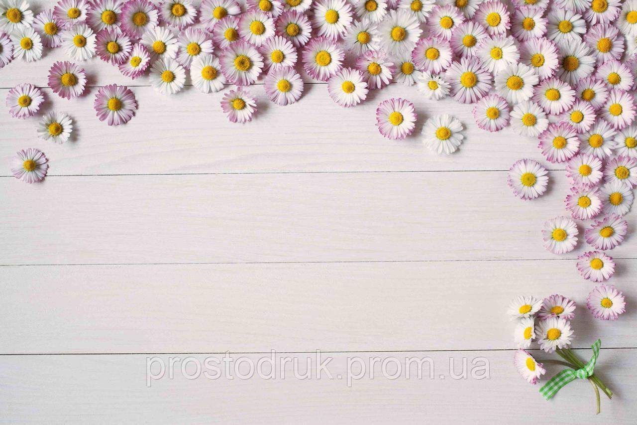 Фотофон 175х120см квіти на дошці