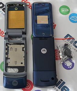 Корпус для телефона Motorola KRZR K1 в сборе (Качество ААА) (Синий) Распродажа!