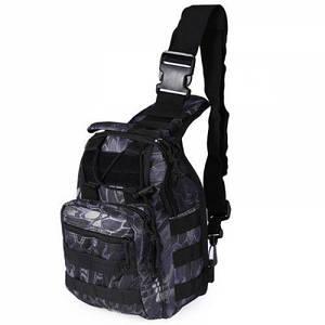 Тактическая военная сумка рюкзак OXFORD 600D Black Python