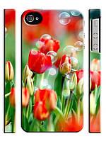 Чехол для iPhone 5/5s Цветы, Тюльпаны