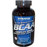 BCAA аминокислоты, Dymatize Nutrition, С разветвленной цепью аминоксилот, 400 капсул
