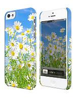 Чехол для iPhone 5/5s Цветы, Ромашки на лугу