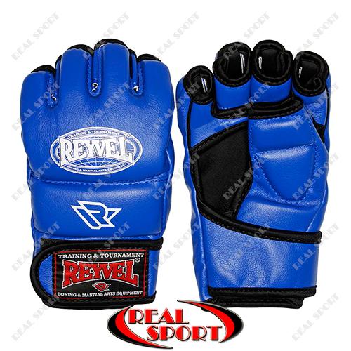 Перчатки для смешаных единоборств MMA Reyvel BK110044 (винил, р-р M-XL, синий)