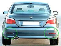 Отражатель (катафот) Левый Правый на заднем бампере BMW E60 Новый Оригинальный