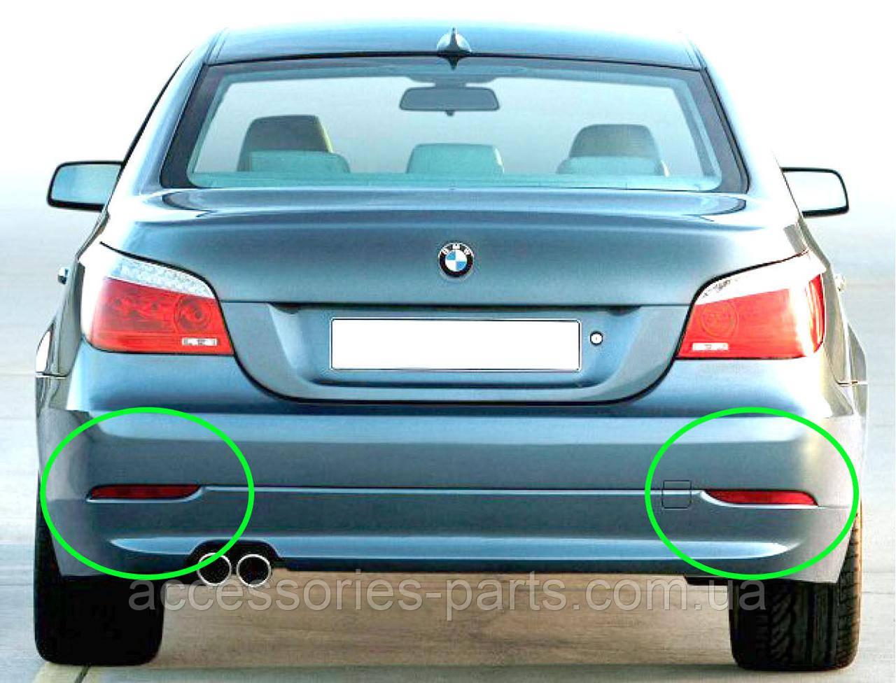 Отражатель (катафот) Левый Правый на заднем бампере BMW E60 Новый Оригинальный - фото 1