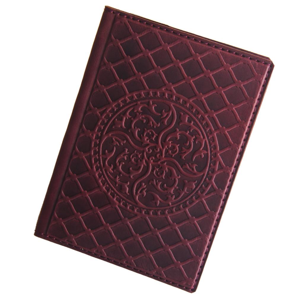 "Обложка на паспорт из кожи ""Катрин"" (Арт Кажан)"