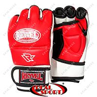 Перчатки для единоборств MMA Reyvel BK110045 (винил, р-р M-XL, красный)