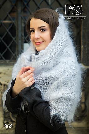 Белый женский пуховый палантин Юлиана, фото 2