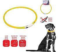 Croci  C5020256 USB Flash Light Band-ошейник светящийся для собак 70 см