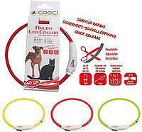 Croci USB Flash Light Band-ошейник светящийся для собак 40 см, фото 2