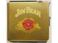 PR7-75 Портсигар Jim Beam с автоматической подачей сигарет,Портсигар-выкидушка + зажигалка, Портсигар на 20шт.