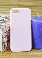 Силиконовый чехол для Айфон, iPhone 8 SMTT бледно розовый