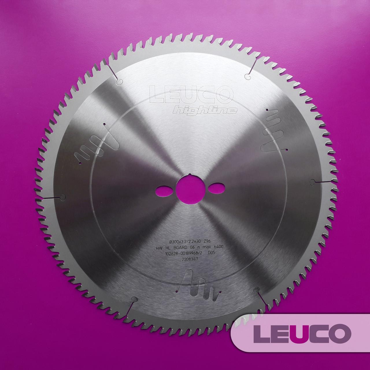 Торцовочные дисковые пилы Leuco, 300x3,2x2,2x30 Z=96 (чистовые)